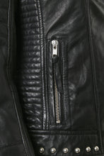 Load image into Gallery viewer, Cujewel Leather Jacket Black