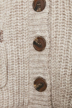 Load image into Gallery viewer, Cumarna Cardigan Cream/Brown