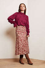 Load image into Gallery viewer, Claire Skirt Cherry Cat Red