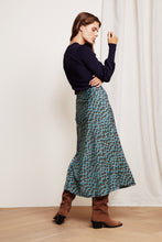 Load image into Gallery viewer, Claire Skirt Peacock Party Blue