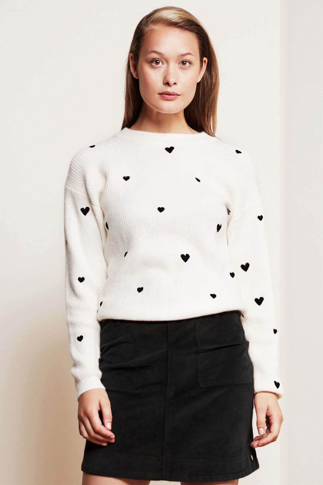 Disco Heart Pullover Cream