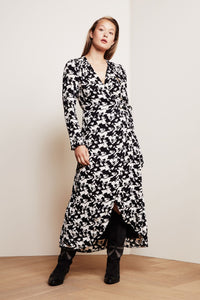 Natasja Dress Pied De Horse Black & White