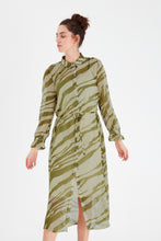 Load image into Gallery viewer, Ihbikka Dress Cream/Green
