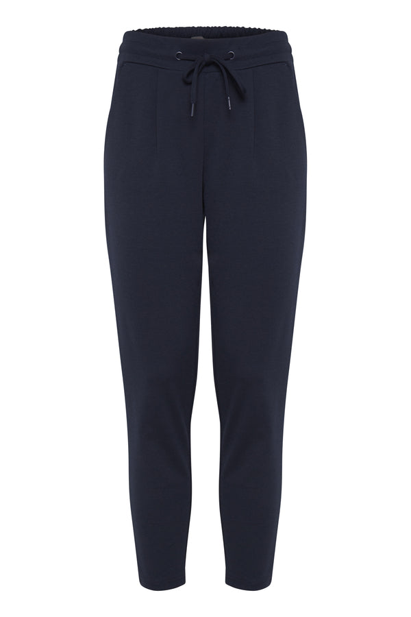 Ichi Kate Pants Cropped Navy