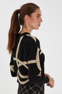 Ihqiana Long Sleeve Black/Gold