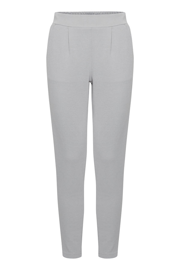 Ichi Kate Pants In Grey Grey