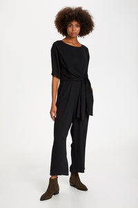 Kalona Cropped Jumpsuit Black