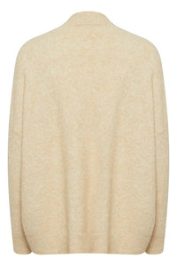 Nora Kb Knit Cardigan Cream Cream