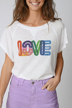 Load image into Gallery viewer, Rainbow Love Tee White