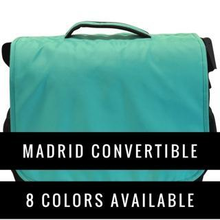 Obersee Madrid Diaper Messenger Bag | Convertible Backpack | Viola