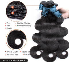 Human Hair Bundles With Closure Lace