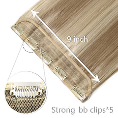 26'' Long Straight  Clips  One Piece Hair Extension