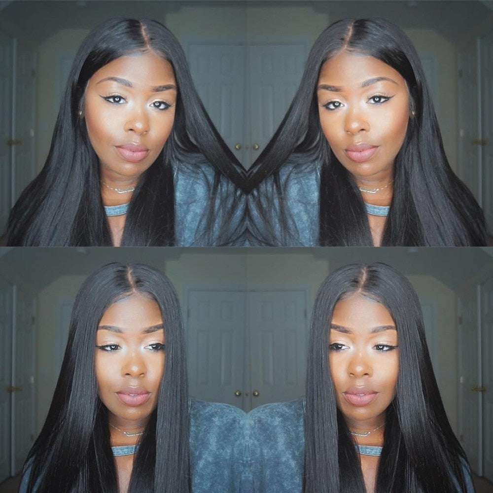 Middle Part Lace Front Wig 28inch - powermakeup