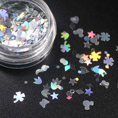 Mix Colorful Heart Eye Glitter