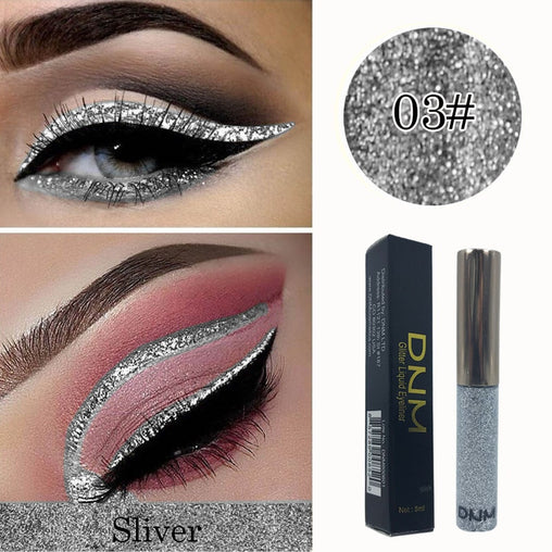 5ml Silver Glitter Eyeshadow Liquid Eyeliner - powermakeup
