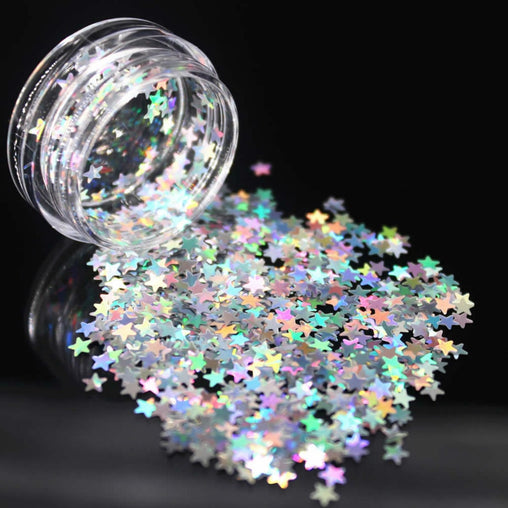 1Box Silver Holographic Sequins Glitter