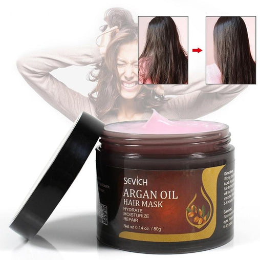 Hair Treatment Mask With Argan Oil - powermakeup