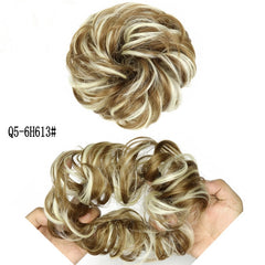Curly Scrunchie Chignon With Rubber Band