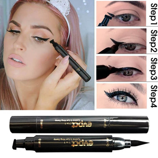 2 In1 Eyeliner Stamp Liquid Eyeliner Pencil