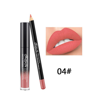 2 Piece Set Liquid Lipstick and Lip Pencil