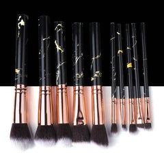 5/10/15pcs Marble Makeup Brushes Tool