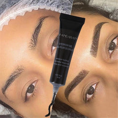 Natural 6 Colors Liquid Dyeing Eyebrow Cream - powermakeup