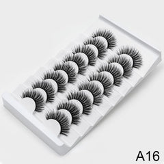 8/20 pairs 15-20mm natural 3D false eyelashes