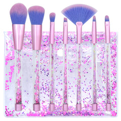 7pcs Makeup Brushes sets with Gliter Bag - powermakeup
