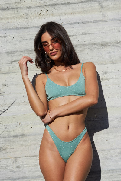 Sparkling Mint Set - Arianna Top, Eve Bottom