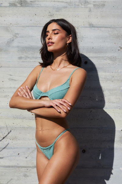 Sparkling Mint Set - Melanie Top, Taylor Bottom