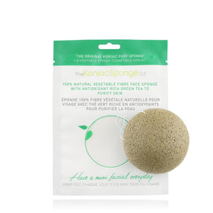 Konjac Sponge Face Green Tea;;