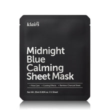 Load image into Gallery viewer, Midnight Blue Calming Sheet Mask Front