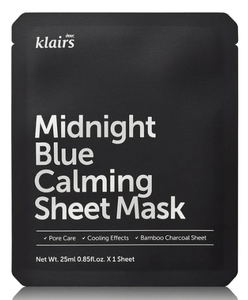 4 Pack- Midnight Blue Calming Sheet Mask Klairs