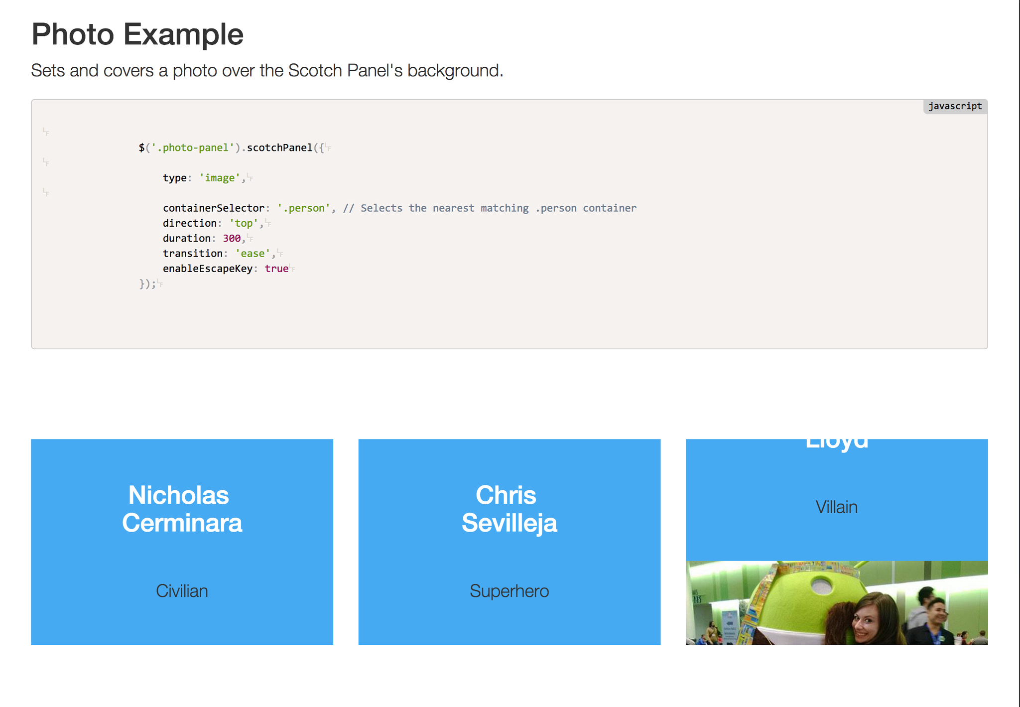 scotchPanels.js Commercial License