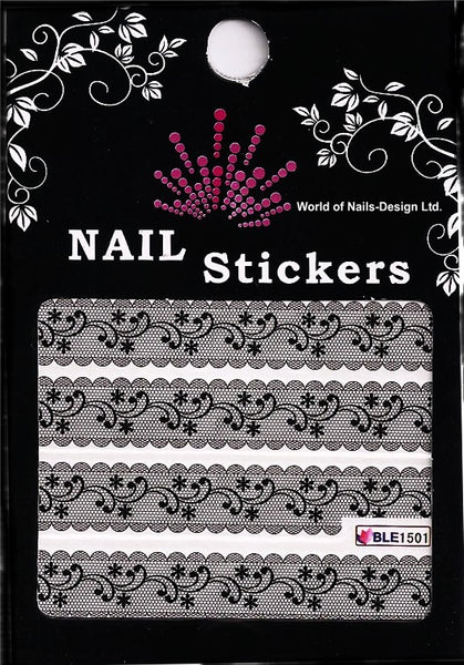 "immer aktuell: Water Nail Tattoo ""schwarze Bordüre"" French Tribal BLE 1501"