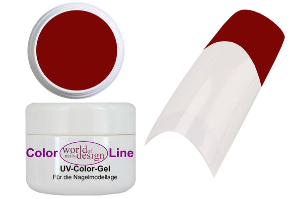 "5 ml. UV Gel ""Purpur Rot"" - HQ Nagelgel Rot - intensives Rot für Fullcover + French"