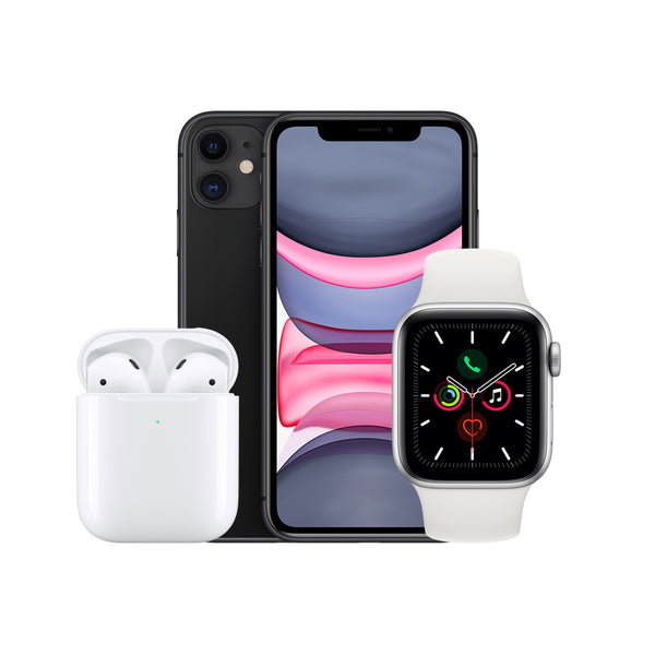 iPhone 11 64GB + Wireless Airpods + Watch Series 5