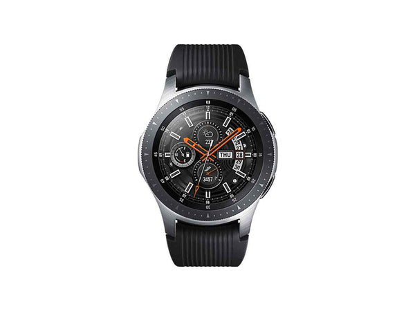 Galaxy 46mm Watch - Silver with Black Strap