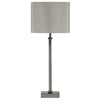 Satin Silver Metal Candlestick Table Lamp