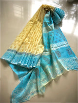 Yellow blue Kota Shibori