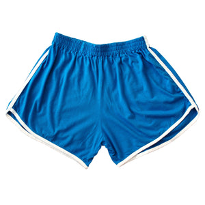 GIRL Seaside Runner Bamboo Shorts, in Sea Blue