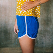 Load image into Gallery viewer, GIRL Seaside Runner Bamboo Shorts, in Sea Blue