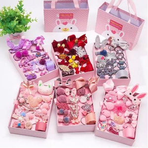 Kids Hair Accessories Gift Box - 18Pcs - Gift Set