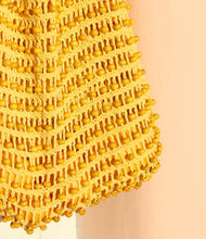 Load image into Gallery viewer, Karma Wooden Beads Crochet Bag in Pale Yellow