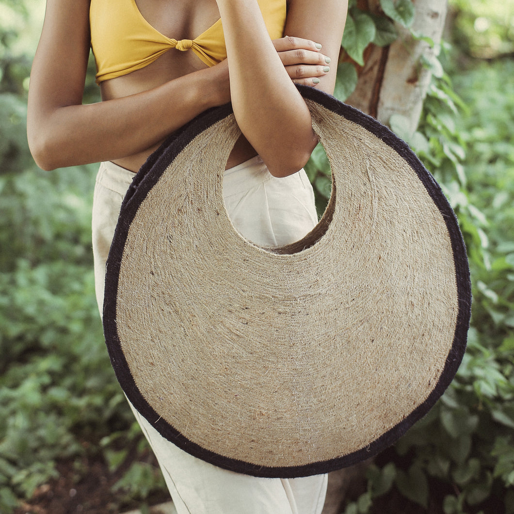 SOLO Halo Jute Straw Bag
