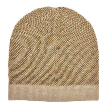 Load image into Gallery viewer, Camel Interwoven Alpaca Beanie