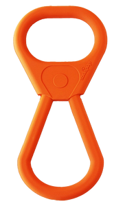 SP Pop Top Rubber Tug Toy for Interactive Play - Orange Squeeze