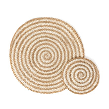 Load image into Gallery viewer, Kata Spiral Placemat - Natural (Set of 4)