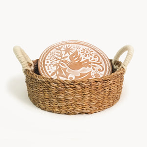 Bread Warmer & Basket - Bird Round
