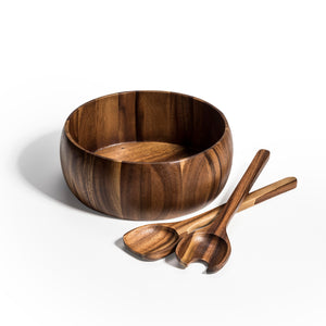 Dragor Large Salad Bowl with Servers
